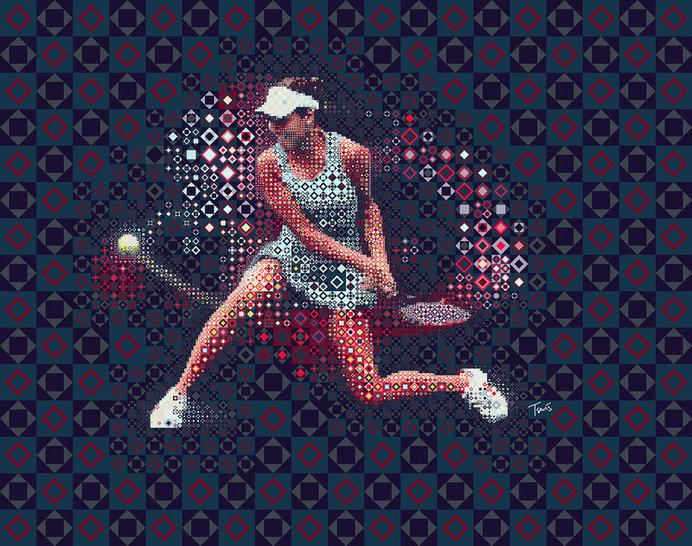 Tennis: Ana Ivanovic 2 #illustration #photoshop #filter