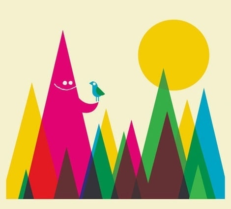 grain edit · Dan Stiles Interview #colourful #primary #dan #illustration #triangles #stiles