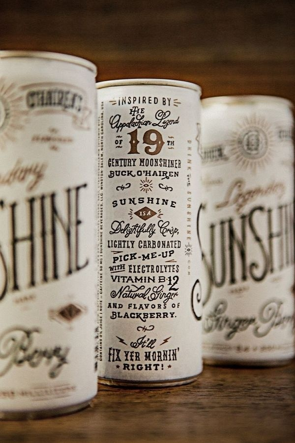 Buck O'Hairen's Sunshine by Device Creative Collaborative #lettering #design #package