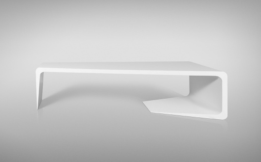 Fluidity Table ‹ NoxDesign #wood #design #white #table
