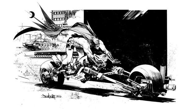 Batpod by seangordonmurphy on deviantART #batman