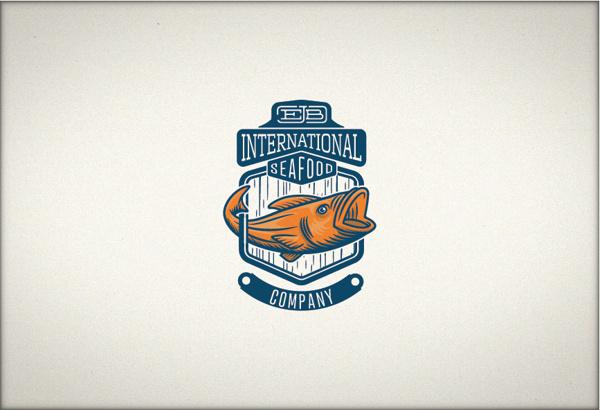 EJB International seafood co. #logotype #ocean #branding #fish #rope #brand #sea #seafood #company #shiny #fishing