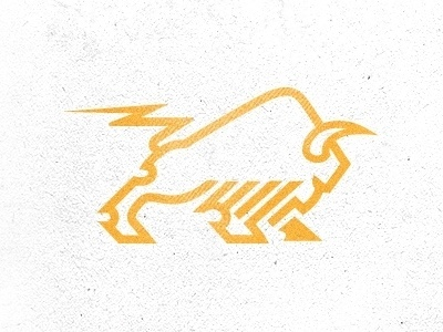 Dribbble - Bison + Power by Mike Bruner #logo #vector #bison