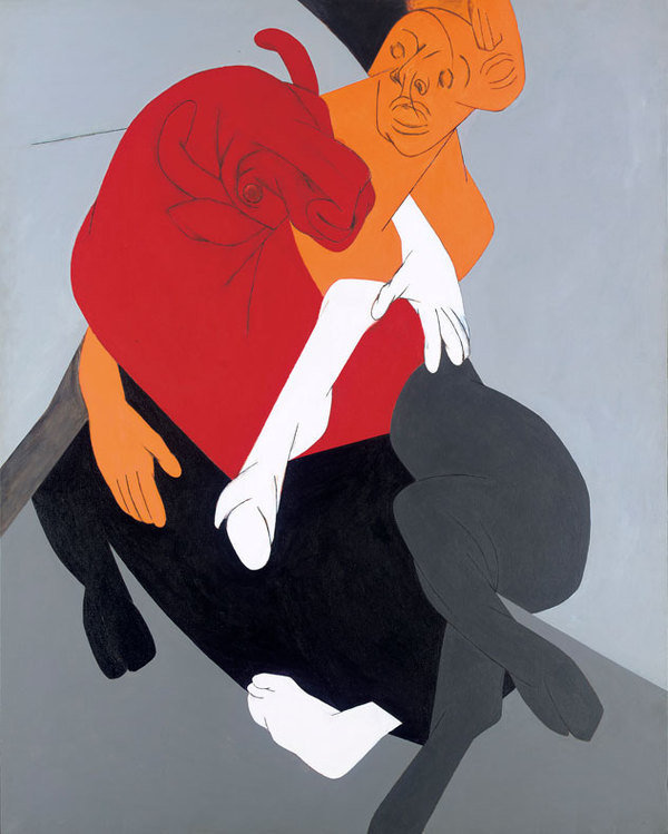 Tyeb Mehta #indian #cubist #painting