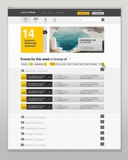 Event & Music Website on the Behance Network #website