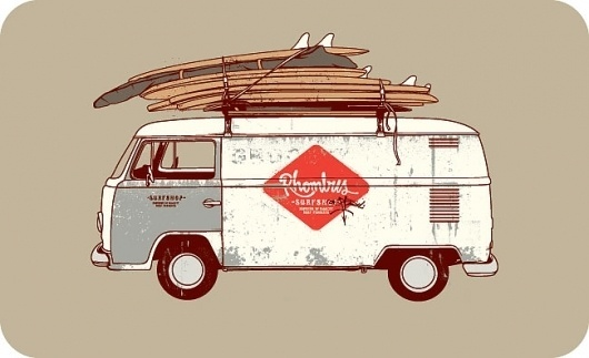 Timba's Design Dept. #timba #surf #van #illustration #type