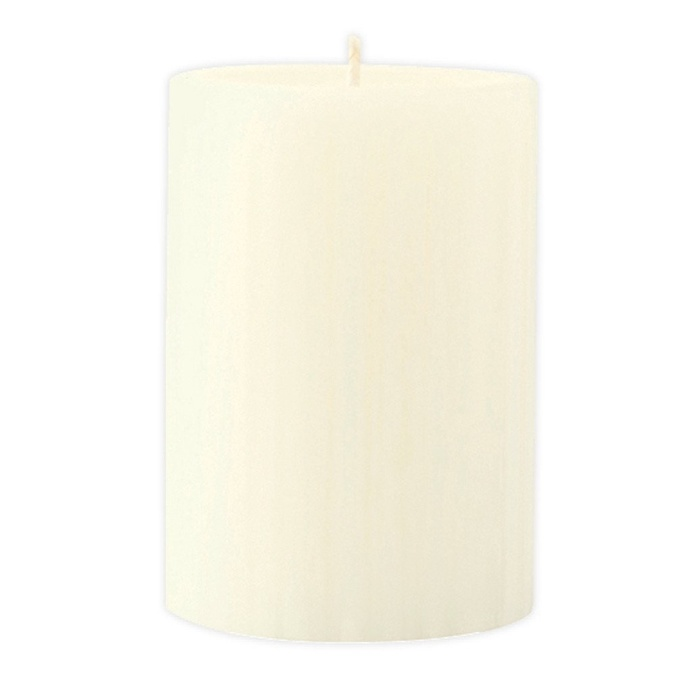 Marbled Pillar Vanilla & Brown Sugar Scented Candle, 10 x 7 cm