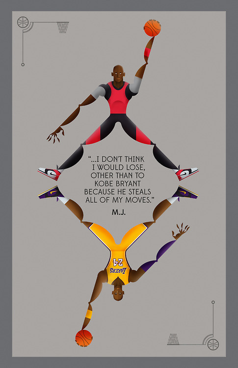 Poster tribute to MJ. #jordan #illustration #kobe