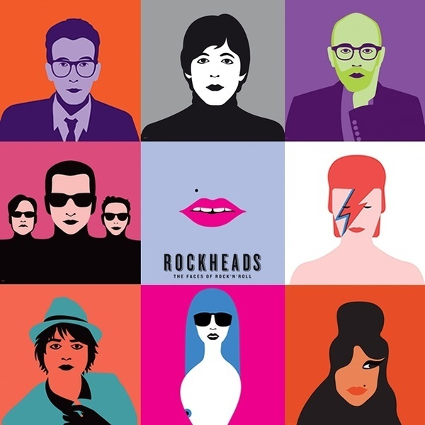 Rockheads: the face of rock'n'roll #music #illustration #art