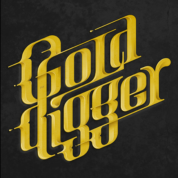 Gold Digger - Tribute to Kanye West music theme #lettering