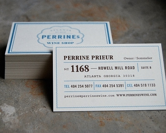 Perrine's Wine Shop : Alvin Diec #business #branding #card #design #wine