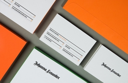 Johanna Lenander on the Behance Network #stationary