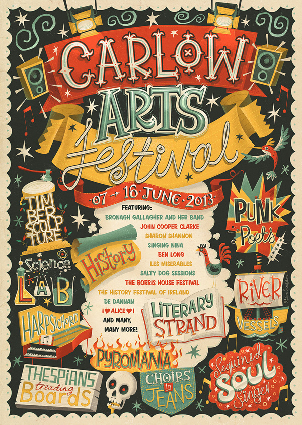 Carlow Arts Festival – Poster on Typography Served | Inspiration DE #poster #festival #art #typography