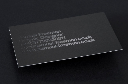 _Welcome : Samuel Freeman Design #card #samuel #business #freeman