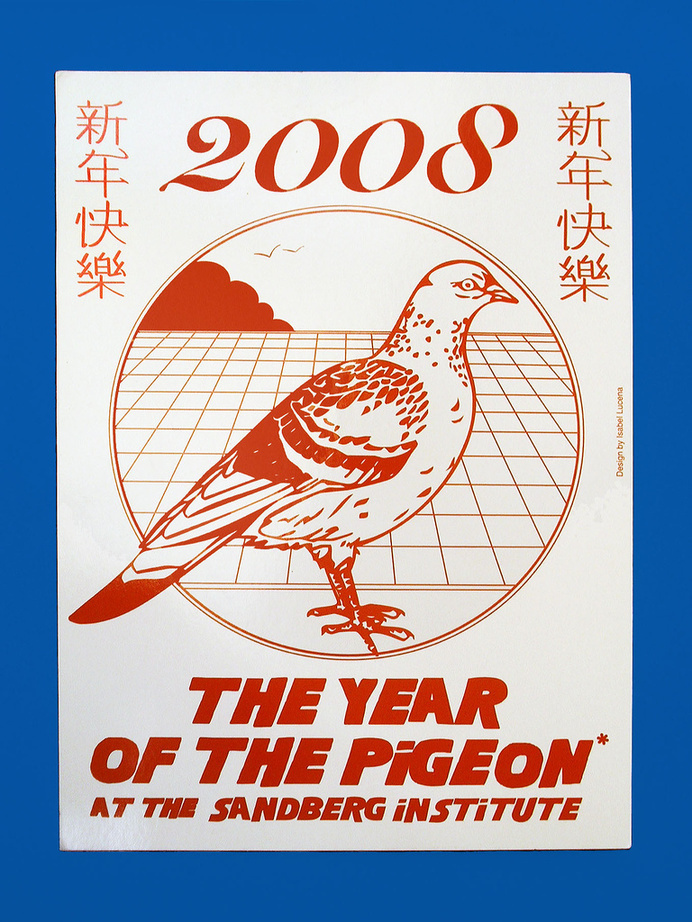 The Year Of The Pigeon - Isabel Lucena #print #poster #illustration