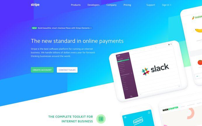 Stripe webpage screenshot