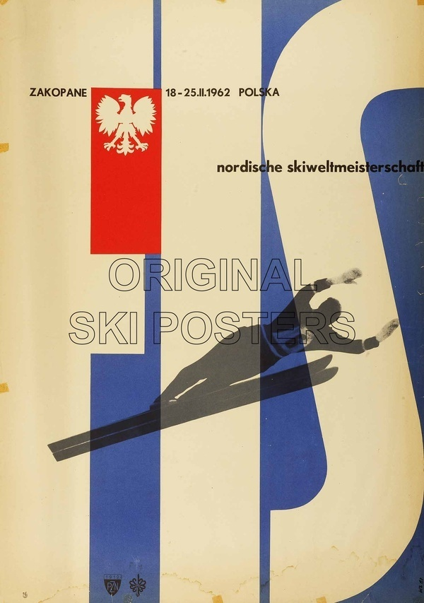 Zakopane FIS Ski World Championships 1962. Offset Lithograph in colours 1961, printed in Poland for the FIS. #vintage #poster