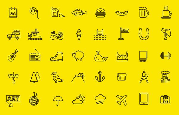 Iceland Review Street Edition dottir | Graphic Design Portfolio of Kristin Agnarsdottir #icons