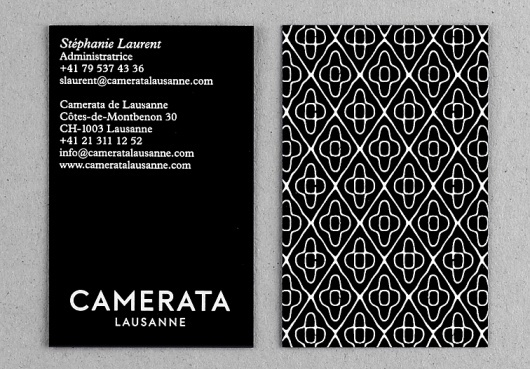 Camerata Lausanne (New) : DEMIAN CONRAD DESIGN
