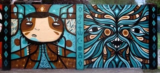 | Documenting Street Art and Graffiti in print since 2006 #mural #graffiti #turquoise #beastmen #europe