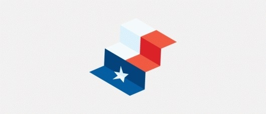 Raising Texas :: Joseph Blalock Design Office #flag #steps #texas #healthcare #logo