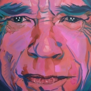 Mick In Pink #painting #oil