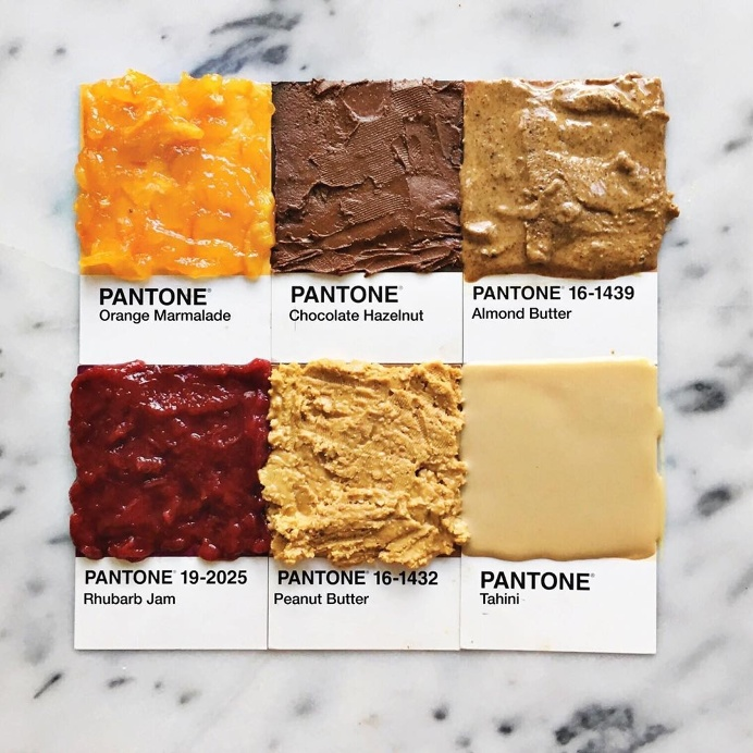 Pantone Food Series by Lucy Litman