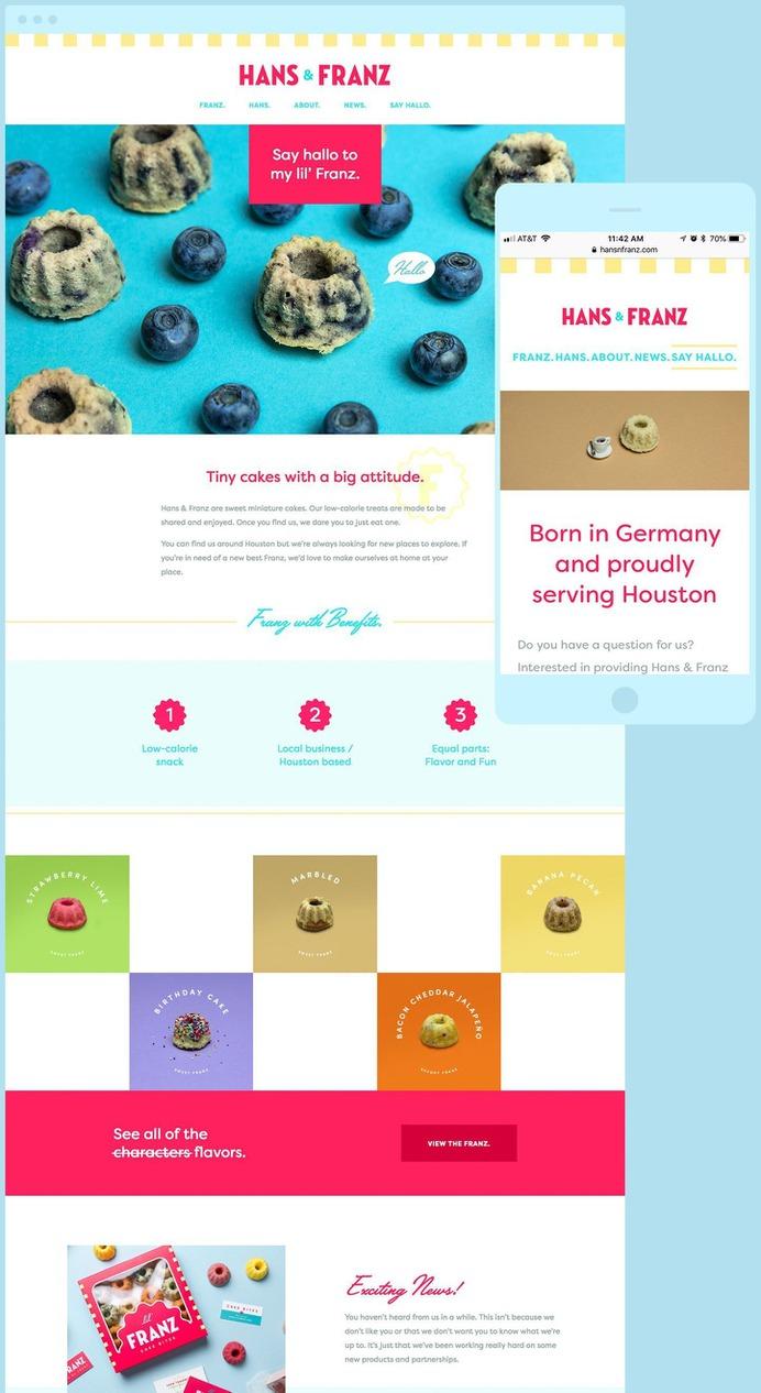 Lil' Franz – Website Design #website #design #foodphotography #cake #houston