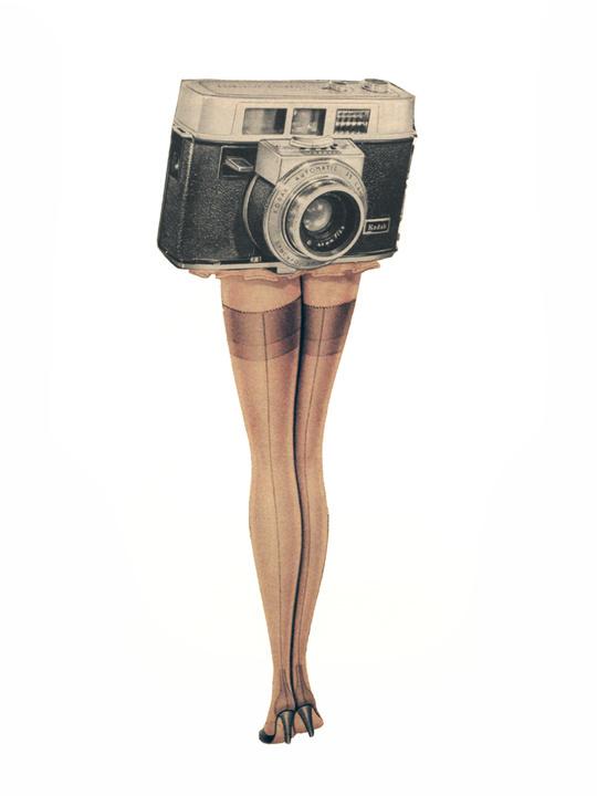 Upskirt, collage, 2010, #art, #collage, #vintage, #camera