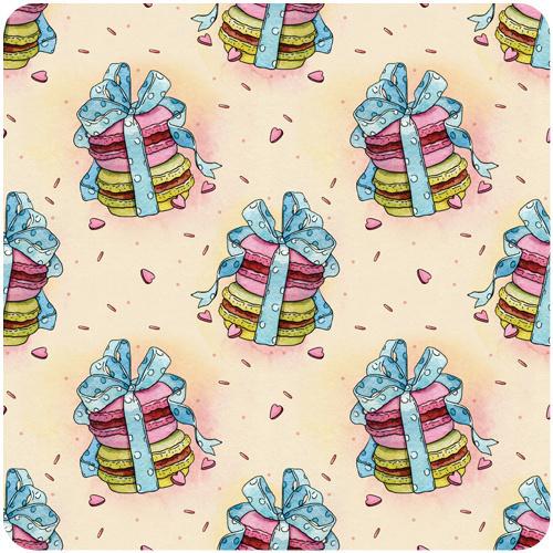 holiday patterns on Behance #cake #present #illustration #pattern