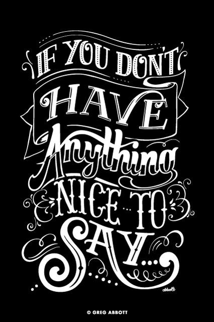 Keep it to Yourself #calligraphy #abbott #greg #handrawn #type #typography