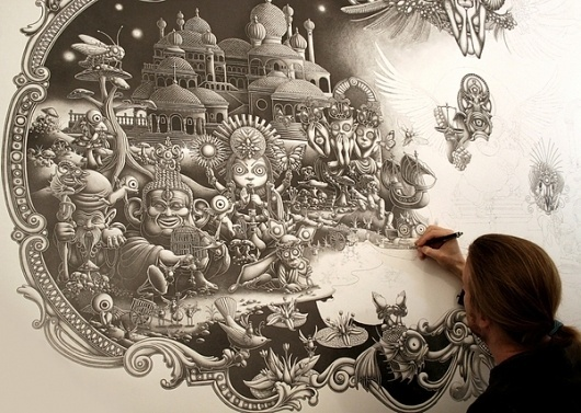 Amazing Illustrations by Joe Fenton - Solitude - 2010/2011 - A work in progress #illustration