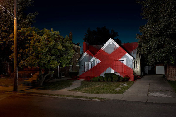 Ian Strange Suburban exhibition designboom 01 #home