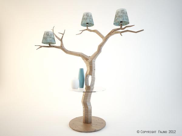 Wood My Treem Lamp Contemporary #interior #design #decor #home #furniture #architecture
