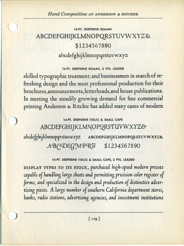 Deepdene type specimen #type #specimen #typography