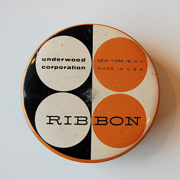 Vintage Typewriter Ribbon tin #packaging #tin #ribbon #typewriter #typography
