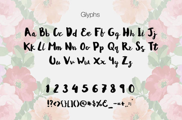 Andrea Script: Free Hand-lettered Font