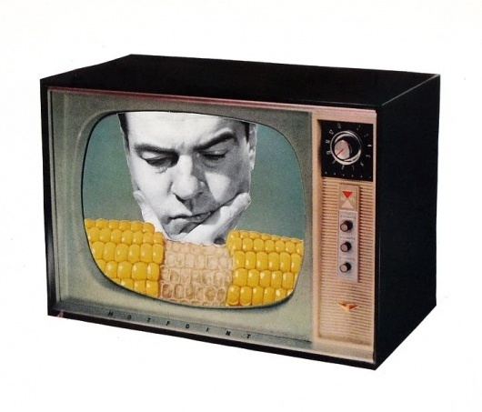 Dan Bina, What Kind of Corn Eater Are You? #bina #dan #vintage #art #corn #man #collage