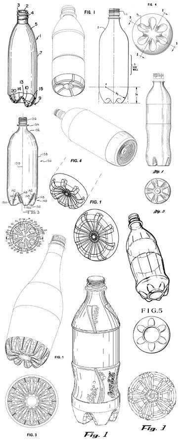 PlasticSodaBottleBases #packaging #design