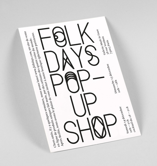 Folkdays — Corporate Design Stahl R #poster #typography