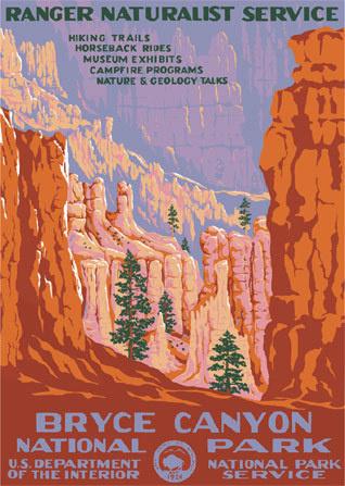 Bryce Canyon National Park #poster #utah #desert #travel #adventure #national parks #wpa #bryce canyon #bryce #canyon #national #park