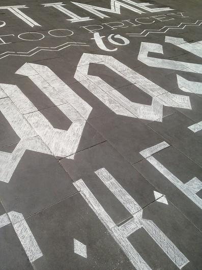 tommaso guerra #street #chalk #typography