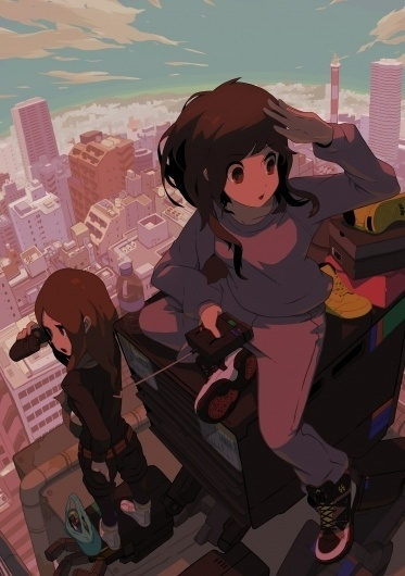 sneaker girls by ~Tomiokajiro on deviantART #city #ilustration