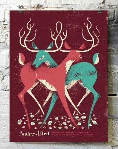 Doe Eyed #deer #bird #poster #music #andrew
