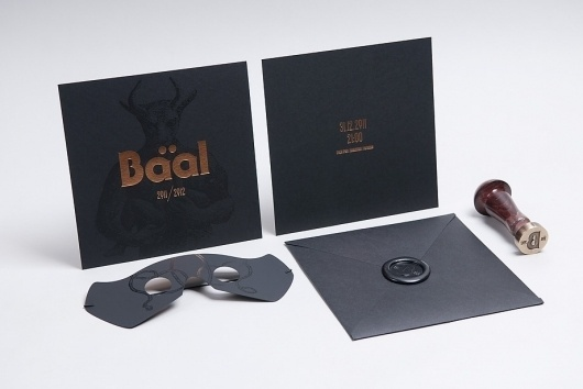 Baal 2011/2012 #stamp #baal #invitation #black #gold #party
