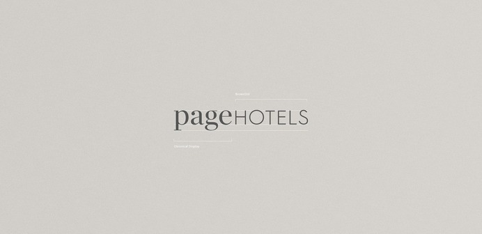 Page Hotels Branding - Mindsparkle Mag Spectra designed the branding for Page Hotels – a new design hotel brand, providing high-quality stays with a service spirit that is real, approachable and knowledgeable. #logo #packaging #identity #branding #design #color #photography #graphic #design #gallery #blog #project #mindsparkle #mag #beautiful #portfolio #designer