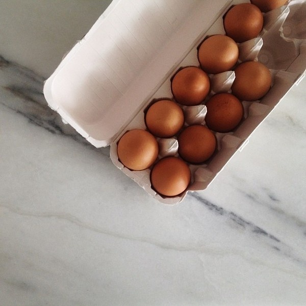 Eggs #muted #rockwell #eggs #food #james #colors #square #marble #photography