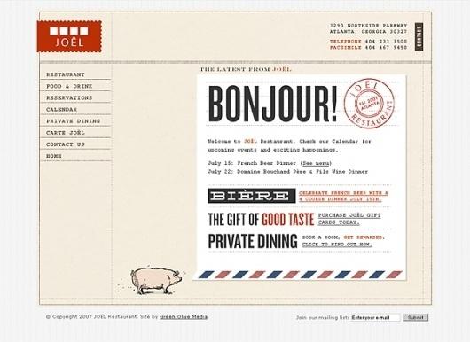 JOÃ‹L Restaurant : Alvin Diec #website #identity #web