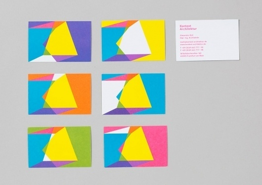 Kontext Architektur – Identity | Alexander Lis #pattern #business #card #logo #colour