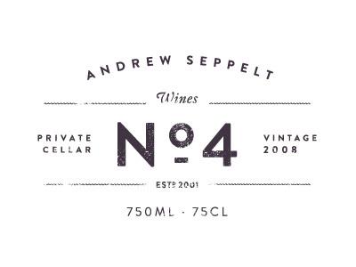 No.4 #rhodes #branding #design #wine #cj #logo